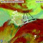 Zöld csóvákat ereget az izlandi vulkán - műholdképek