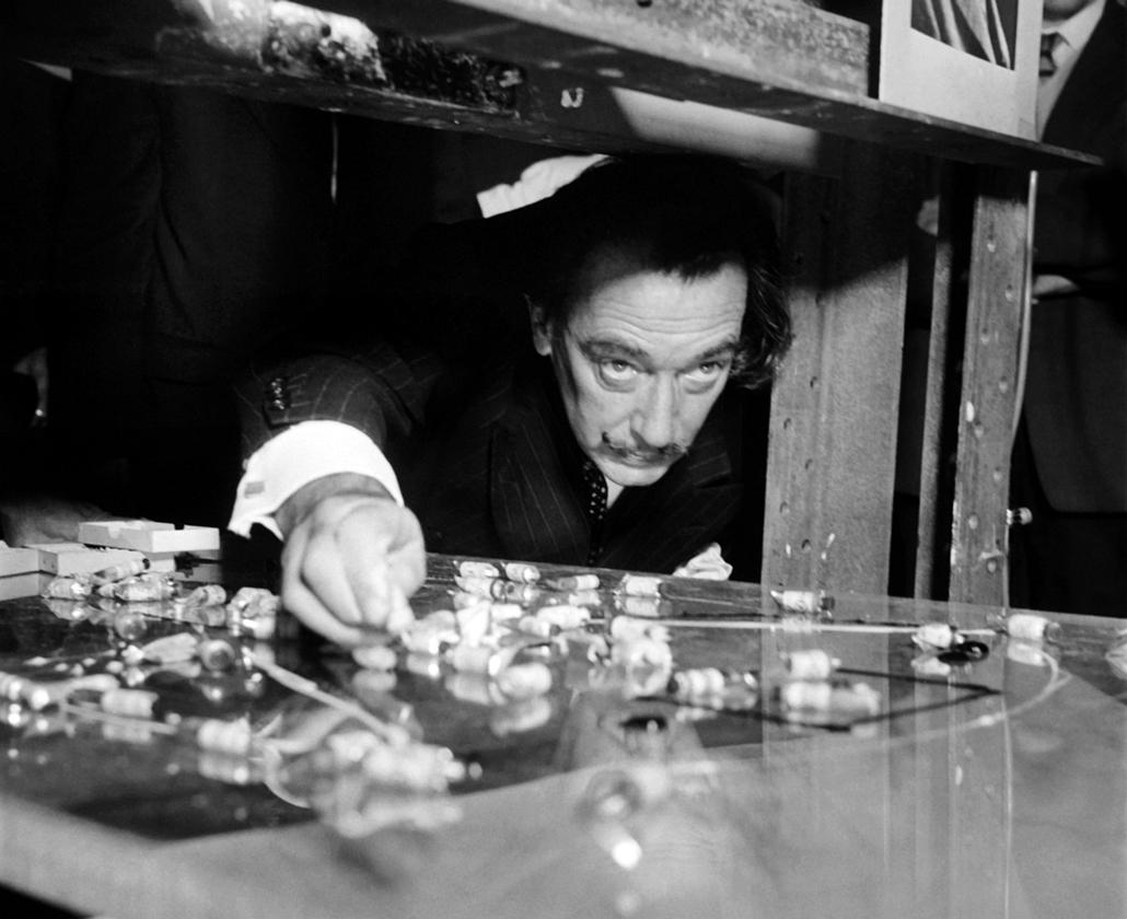 afp. nagyítás - Salvador Dali 110 éve született - 1960.01.01. - : Picture dated in the 60s of Spanish artist Salvador Dali.