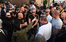 Balhé volt a Jobbik megemlékezésén – helyszíni fotók