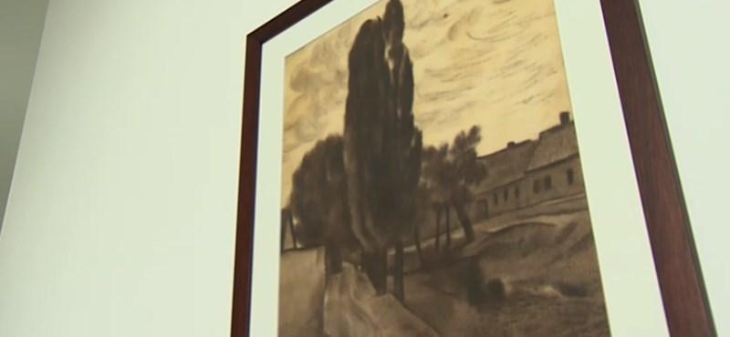 Sosem látott Vajda Lajos-kép került elő egy festmény háta mögül