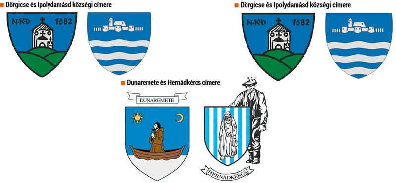 Települési címerek: új heraldikai kódok afalvakban