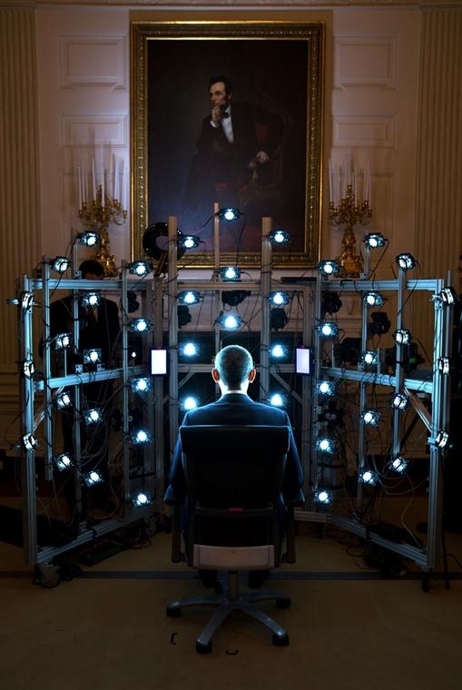 lehetőleg ne - flickrCC_! - 14.06.09. - Washington, USA: 3D portré készül Barack Obamáról a Smithsonian Intézetben 2014. június 9-én. - Barack Obama nagyítás