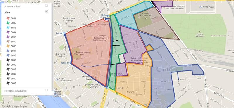józsefváros térkép Autó: Márciustól szinte mindenhol fizetős a parkolás