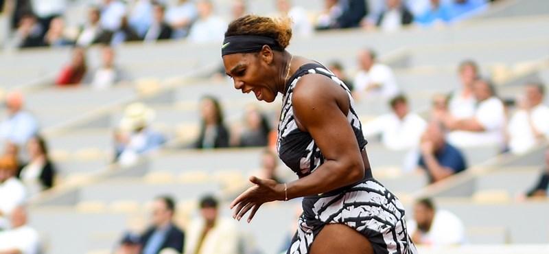 Serena Williams kiesett a Roland Garroson