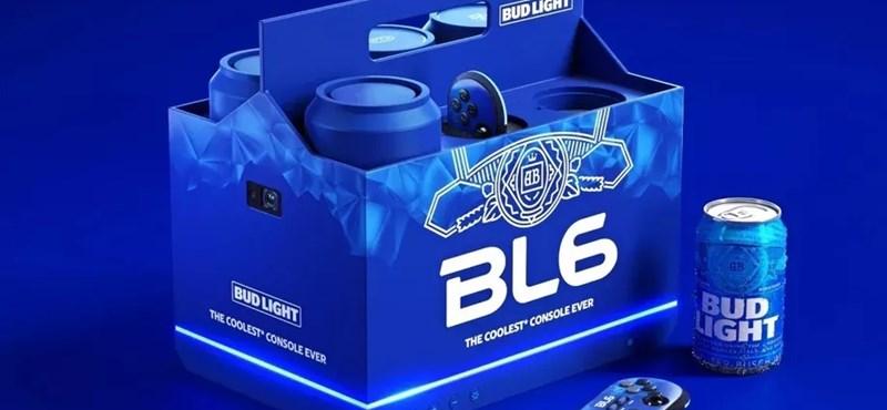 Játékkonzol és sörhűtő egyszerre – működő konzolt épített az amerikai Bud Light gyártója