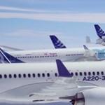 Videón, amit még a pilóták is ritkán látnak: 6 Airbus repült kötelékben