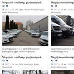 A hírek színes választékával várja Önt a rendőrség honlapja! - újrahasznosított járműátadás?