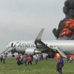 Lángokba borult felszállás közben egy Boeing repülőgép – videó