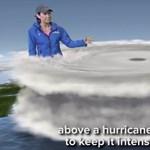 Az időjós átlépett Afrikába, hogy jobban megmagyarázhassa az Irma hurrikánt – videó