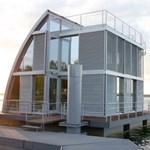 Vitorlás formájú modul házak az ínyenceknek