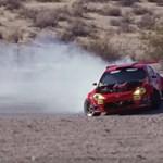 Végre versenypályán is megkínozták a Ferrari-motoros Toyotát – videó