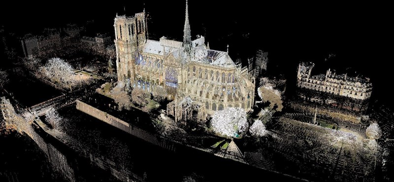 Egy művészettörténész 3D-ben beszkennelte a teljes Notre-Dame-ot, munkája elengedhetetlen az újjáépítéshez