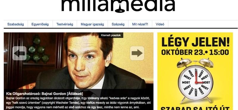 Bizarr: címlapsztori a Millamédián a Bajnait oligarchának nevező írás