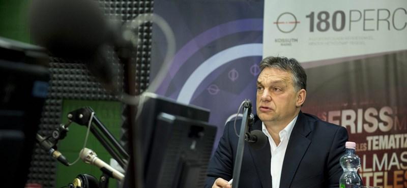 """Orbán: """"El kell kerülni, hogy egy nagy menekülttábor legyünk"""""""