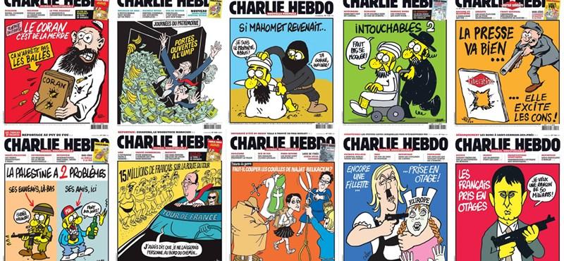 Mindenkiből viccet csináltak – válogatás a Charlie Hebdo címlapjaiból