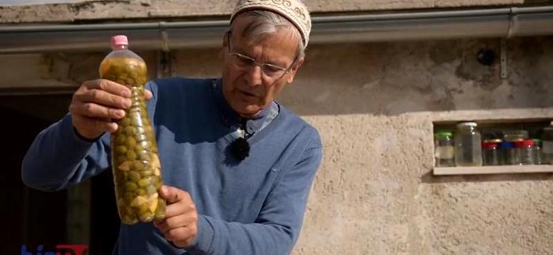 Demszky a beduin módszerrel olívázik horvátországi házában – videó