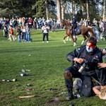Áprilisi tréfának indult, véres tömegoszlatással ért véget egy illegális buli Brüsszelben