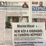 """""""Visszalökték"""",""""visszafoglalták"""" – így hozták a napilapok címlapjukon a Hír Tv-ügyet"""