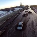 Csodás videó arról, amikor az orosz utakon beköszönt a tavasz