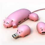 Akarjuk: szuper cuki USB malackák
