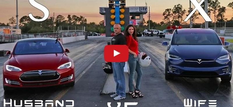 Végre: gyorsulási versenyen mérték össze a Tesla Model S és Model X erejét – videó