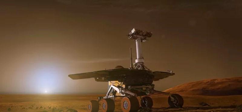 Jó hír: enyhült a porvihar a Marson, 45 napja lesz hazatelefonálni az Opportunity marsjárónak