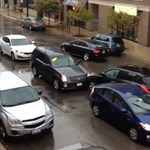Taxis az autótolvaj ellen: öt autó tört össze Chicagóban - videó