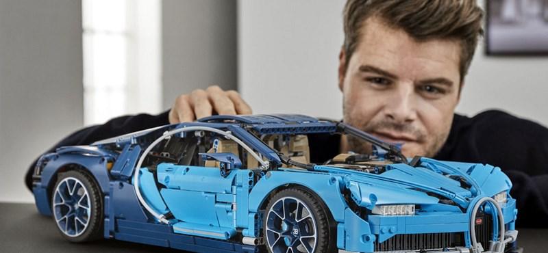 Ritkán mutatnak be ennyire menő Legót: itt a 127 ezer forintos hatalmas Bugatti Chiron