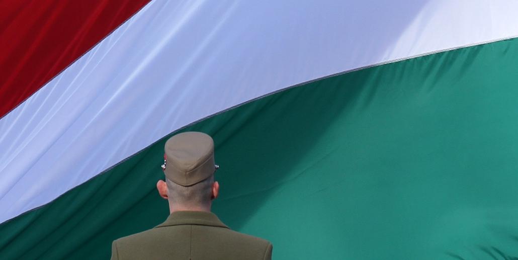 március 15 - zászlófelvonás