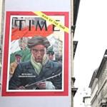 Fotó: a Wesselényi utcában jön szembe a szigorú forradalmár a Time címlapjáról