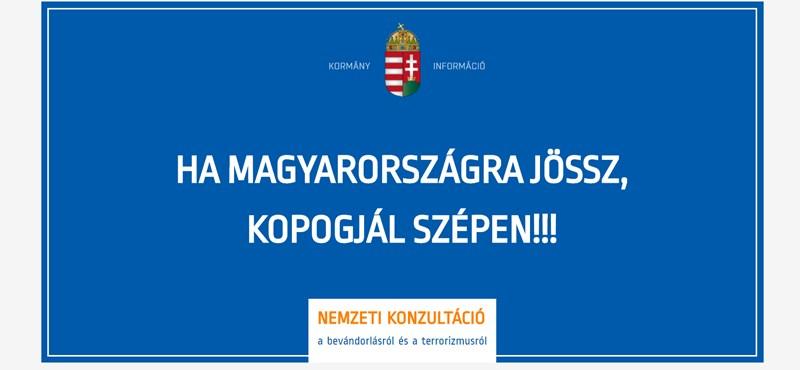 Habonyék már gyártják a plakátokat: Ha Magyarországra jössz, kopogjál szépen!