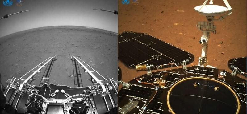 Las primeras imágenes tomadas por el marciano chino llegaron