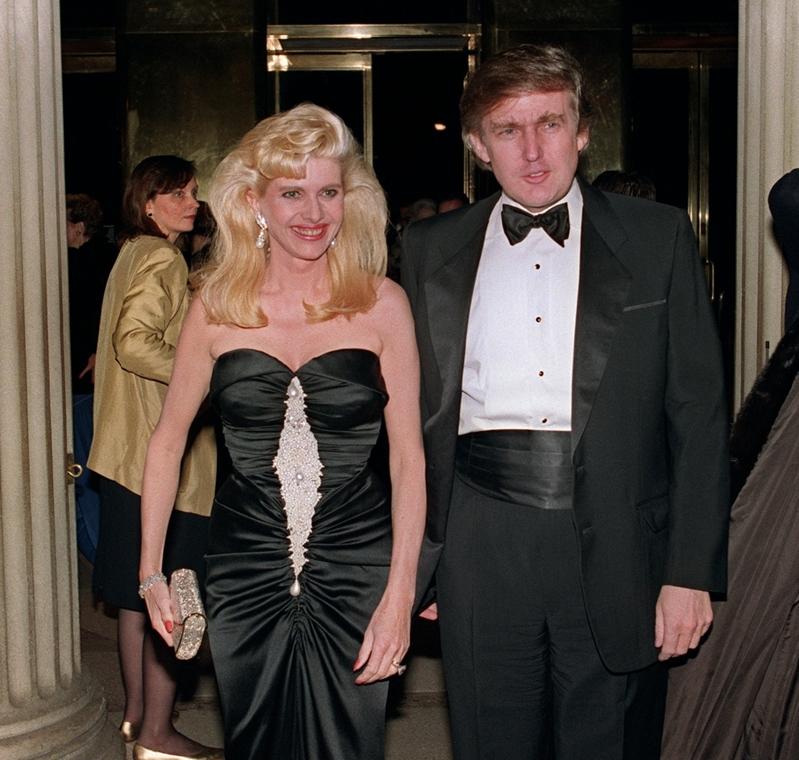 afp.89.12.04. - New York, USA: Donald Trump és felesége, Ivana 1989 decemberében. - Donald Trump nagyítás