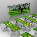 Érintőképernyős asztalok kerülnek a jövő osztálytermébe