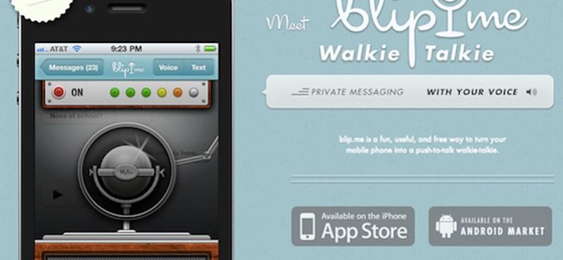 Ingyen walkie-talkie, amellyel akár az egész világnak is üzenhet