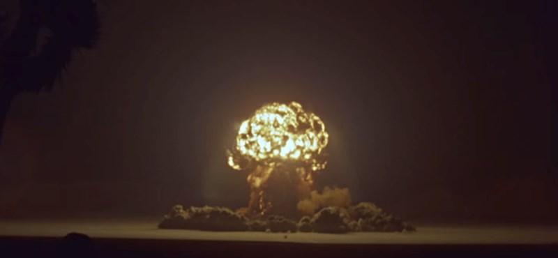 Így pusztít egy atombomba: sosem látott videón az amerikai atomkísérletek