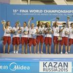 Fotó: felálltak a dobogóra a bronzérmes női vízilandások