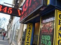 Zuhanórepülésben a forint, hajszálnyira a 365-ös euró
