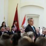 Orbán Viktor a Terror Háza Múzeumnál mond beszédet október 23-án