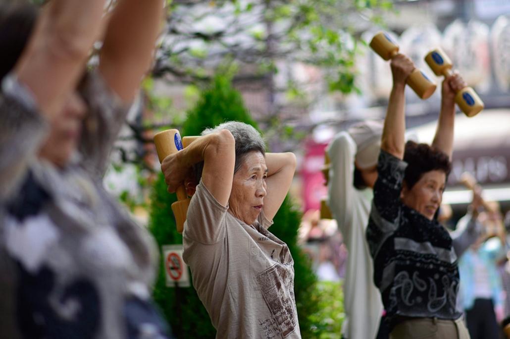 A japán lakosság előregedése, idősek, nyugdíjas,