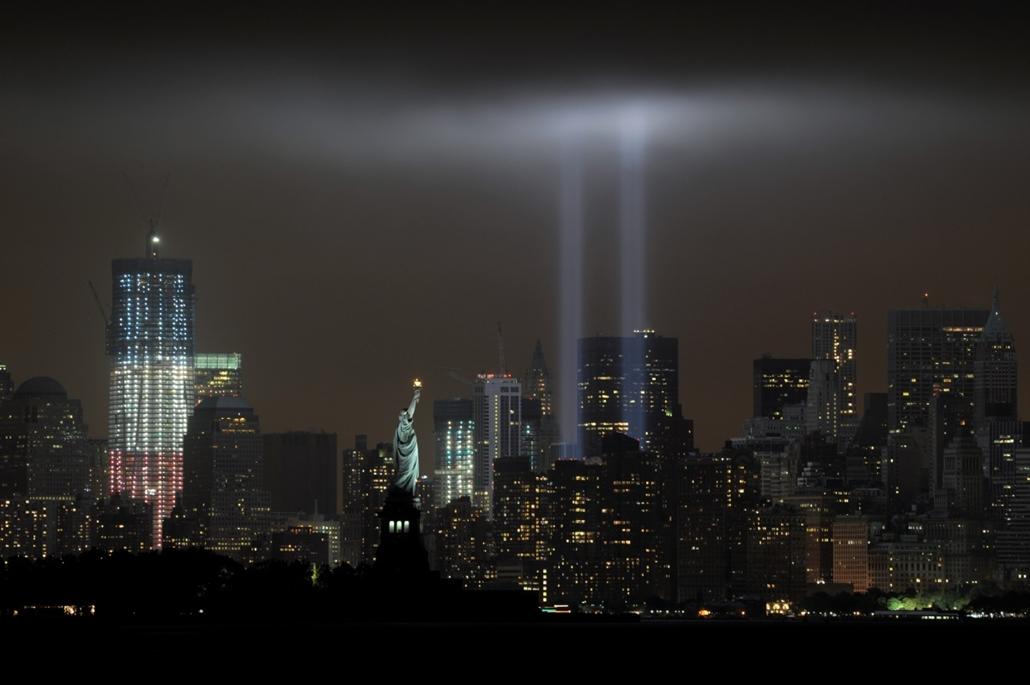 afp.11.09.12. - Bayonne, USA: a világkereskedelmi központ (World Trade Center) elleni támadás évfordulója - wtc, 911