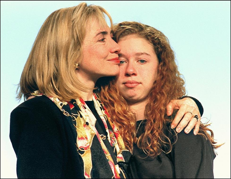 1993.01.16. - Hillary Rodham Clinton és lányuk Chelsea - CLNTNAGY