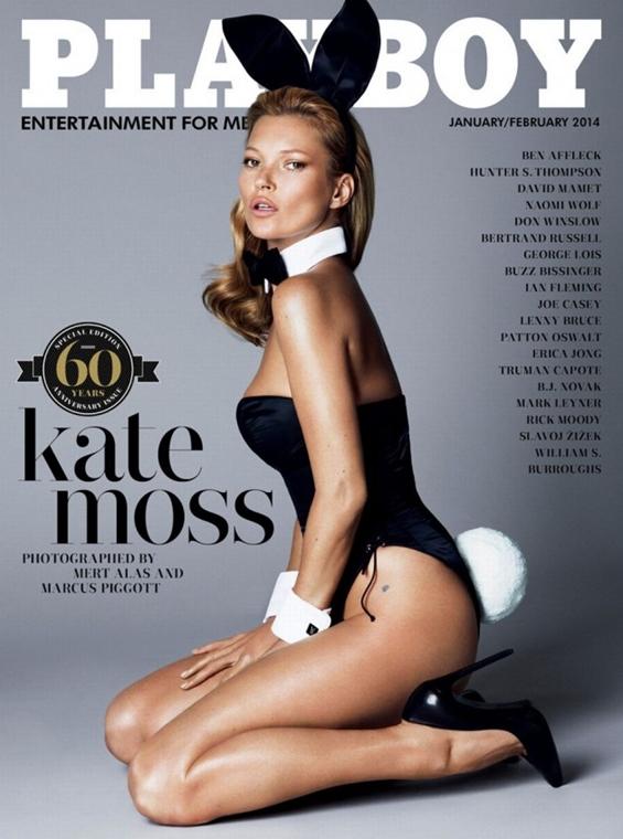 Kate Moss a Playboy címlapján