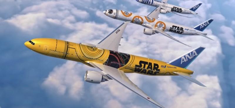A Star Wars C-3PO-jára festenek át egy utasszállító repülőt – videó