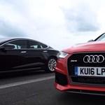 Összecsapás: a Top Gear egymásnak eresztette a Teslát és az Audi RS6-ot