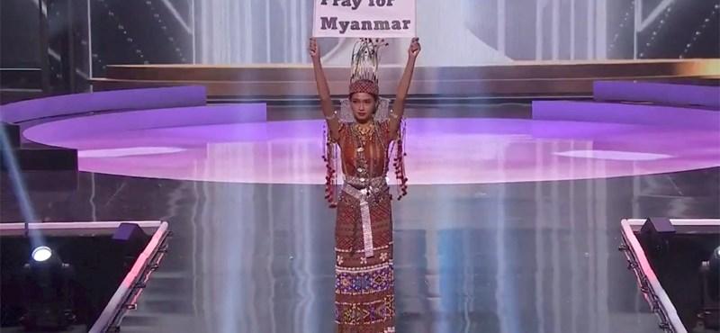 Politikai üzenetek átadására használták a szépségversenyt a versenyzők