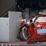 Nem mindennapi látvány a legújabb amcsi izomautók töréstesztje – videó