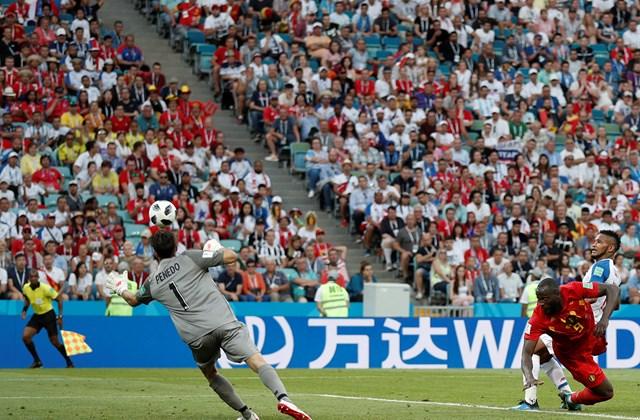 afp.18.06.18. - Belgium–Panama világbajnoki csoportmérkőzés Lukaku gól