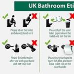 Kérjük, ne álljon rá a vécéülőkére! - fotó