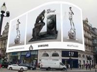 Érdekes ötlet: a világ legismertebb szobrai promózzák a Samsung mosógépét